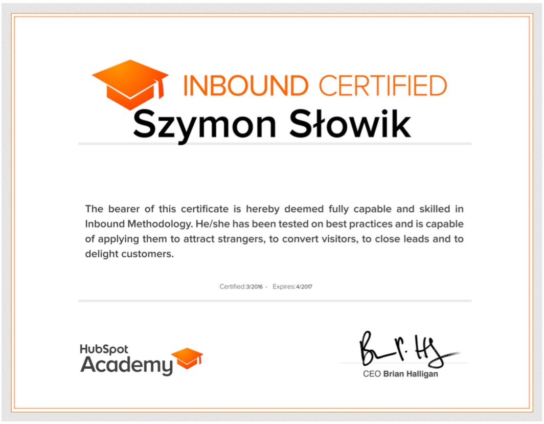 Szymon Słowik inbound marketing
