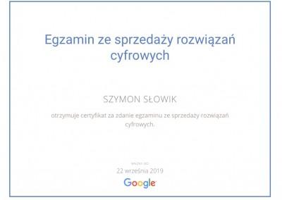 Certyfikat Google: sprzedaż rozwiązań cyfrowych
