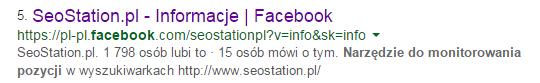 seostation na facebooku
