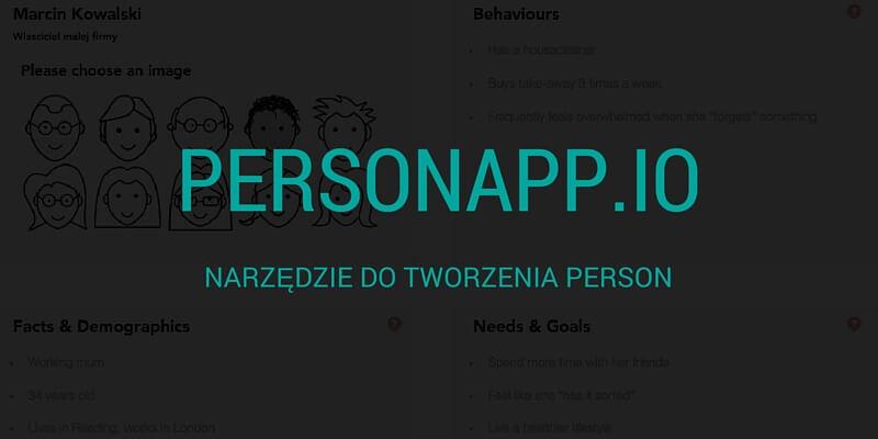 Personapp – narzędzie do tworzenia person