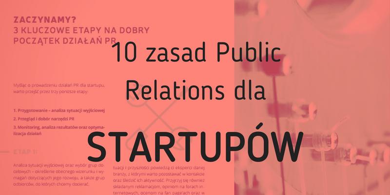 10 zasad Public Relations dla startupów