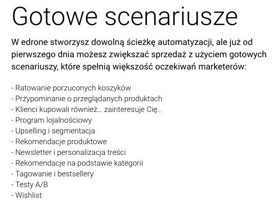 gotowe scenariusze automatyzacji