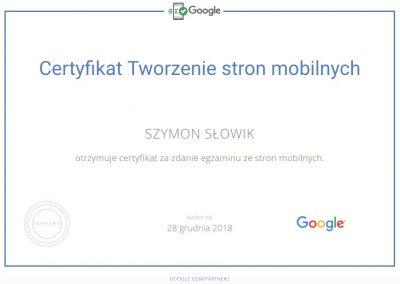 Certyfikat Google: tworzenie stron mobilnych