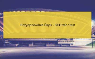 Pozycjonowanie stron Śląsk – Katowice, Gliwice – cennik 2018 – porady