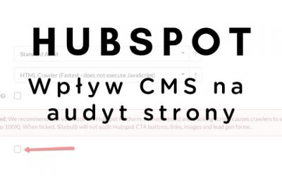 Audyt strony opartej na CMS Hubspot