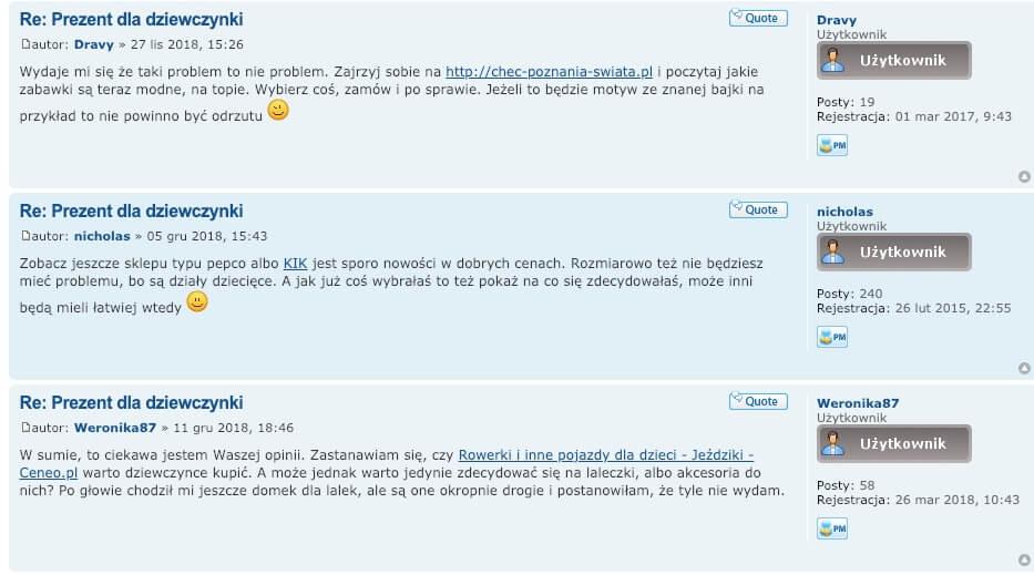 forum internetowe z linkami