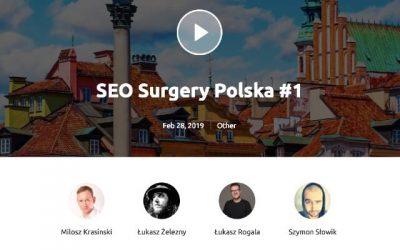 Webinar SEO Surgery Polska #1 SEMrush