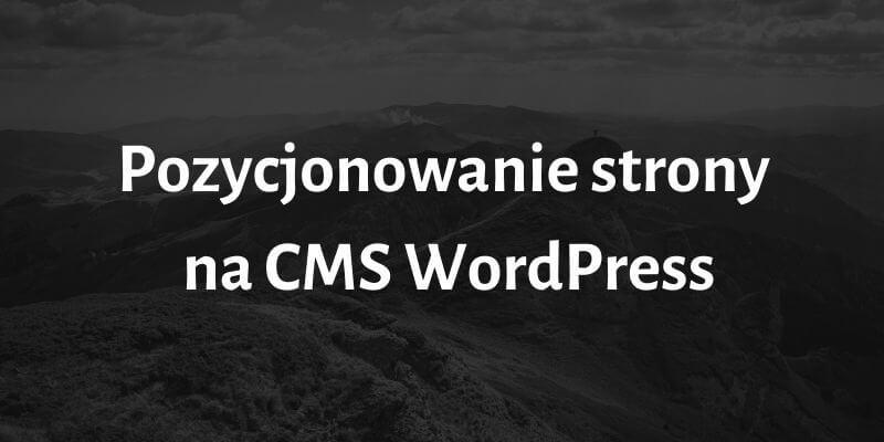 Pozycjonowanie strony na CMS WordPress