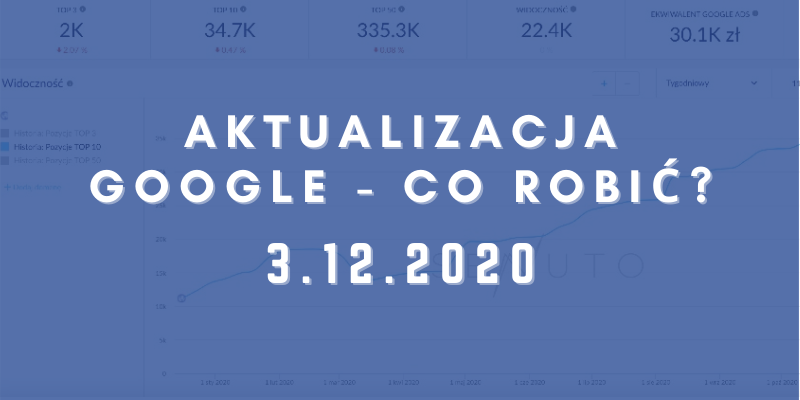 Grudniowa aktualizacja Google – December 2020 Core Algo Update