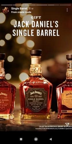 reklama whisky na instagramie